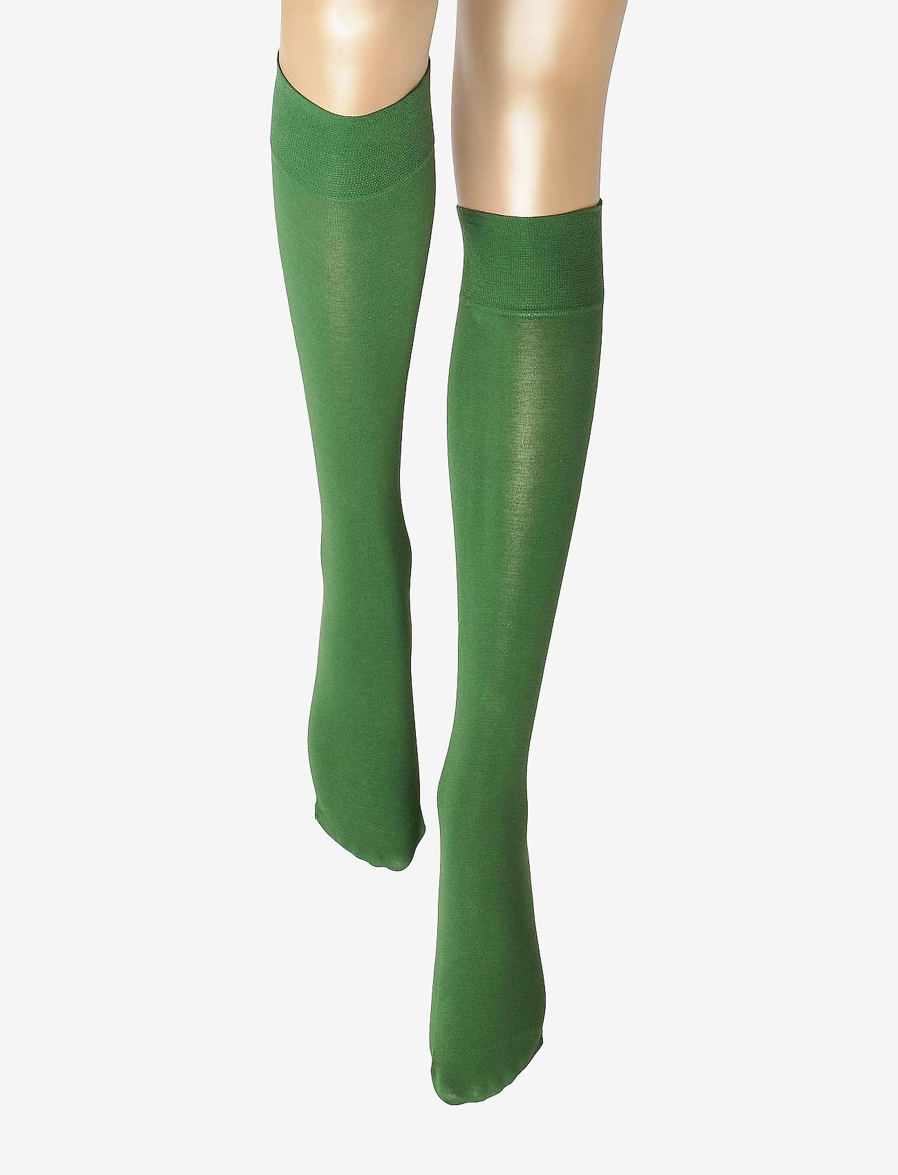 Vogue - Ladies knee high, Silky Cotton Knee - knee-highs - green - 1