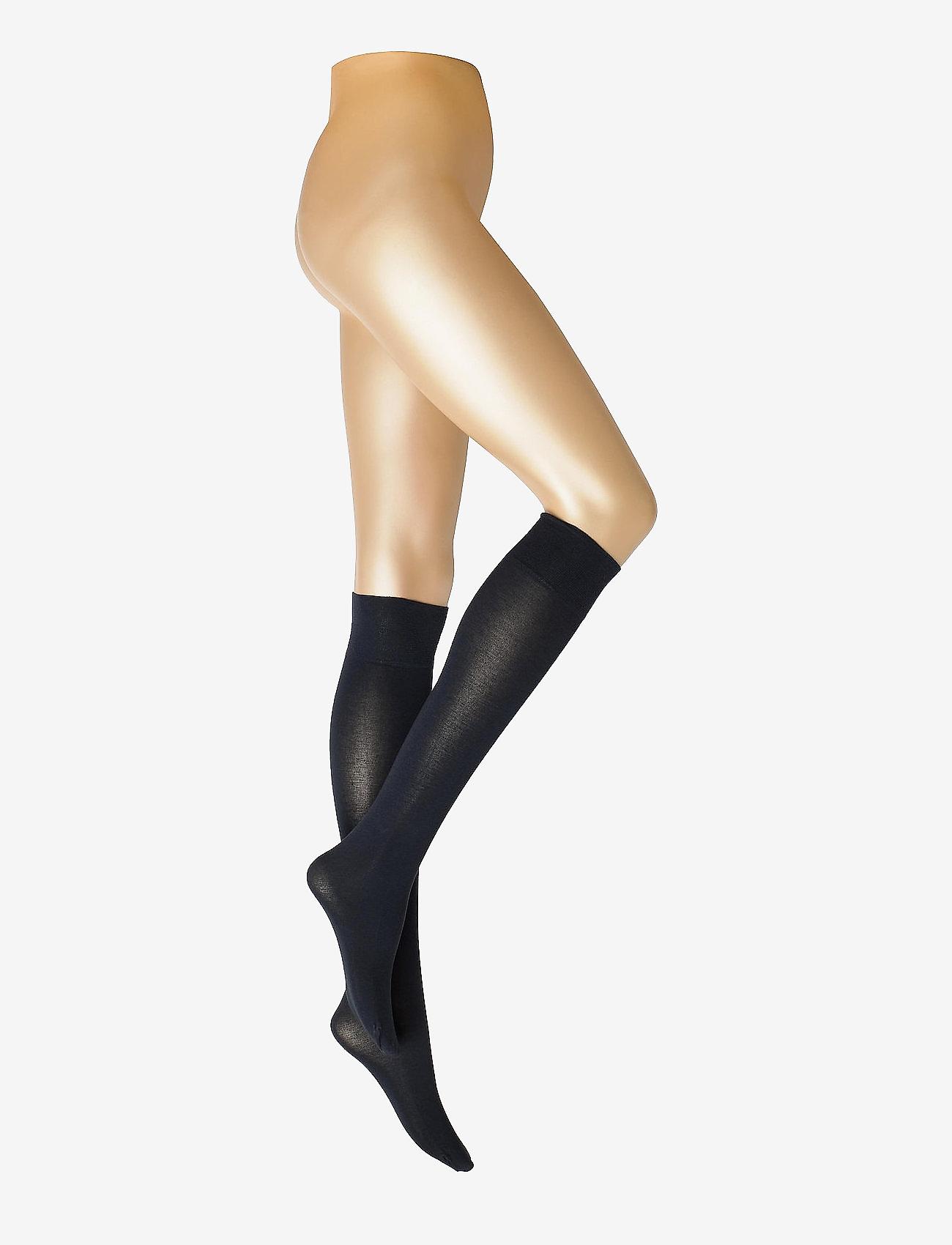 Vogue - Ladies knee high, Silky Cotton Knee - kniekousen - marine - 0
