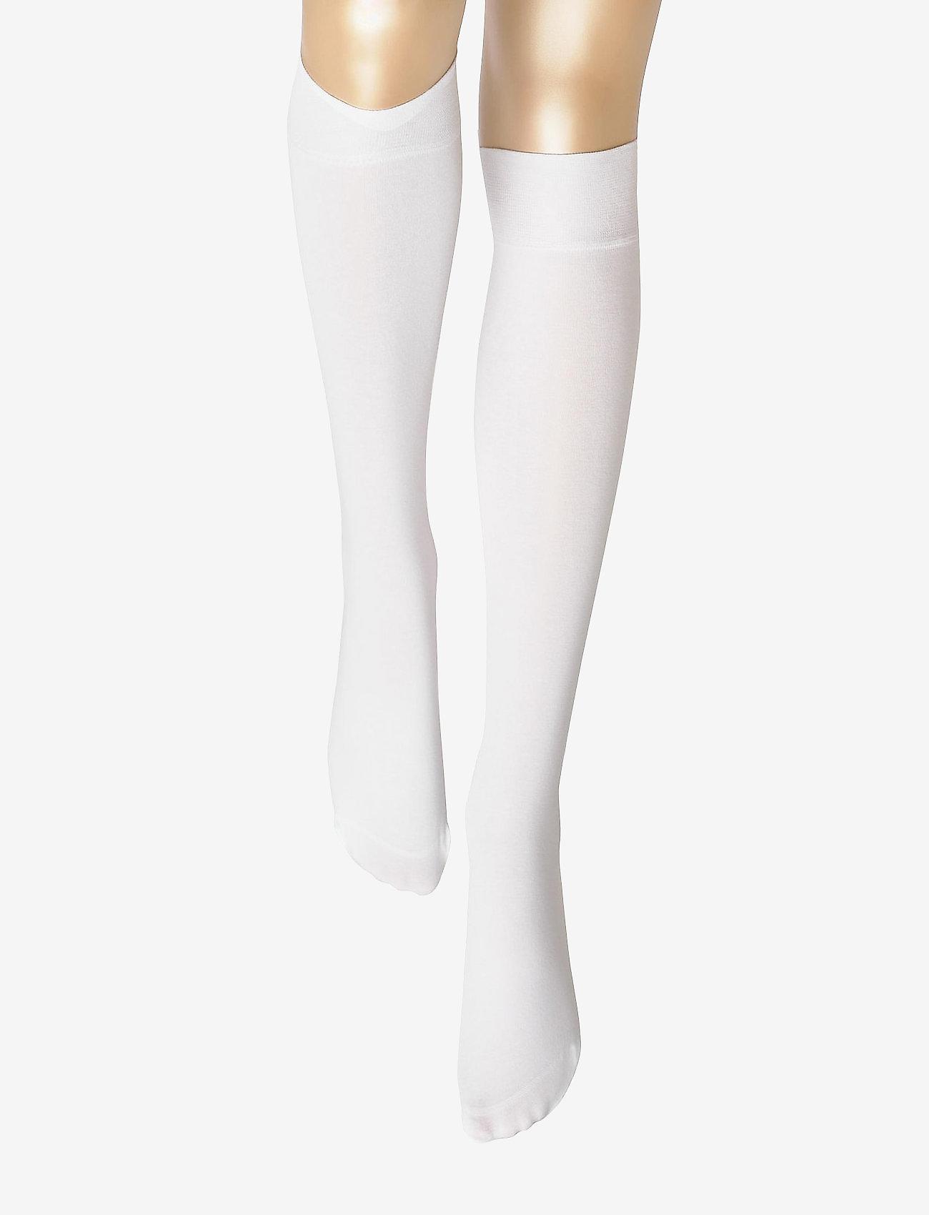 Vogue - Ladies knee high, Silky Cotton Knee - knee-highs - white - 1