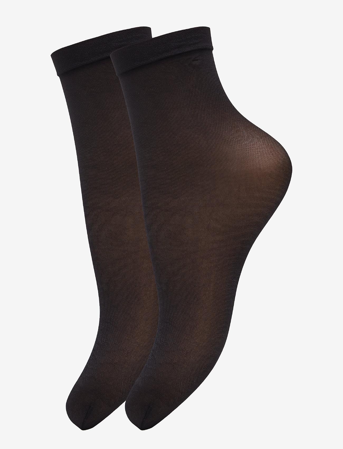 Vogue - Ladies den anklesock, Pleasure Socks 20, 2-pack - sokken - black - 0