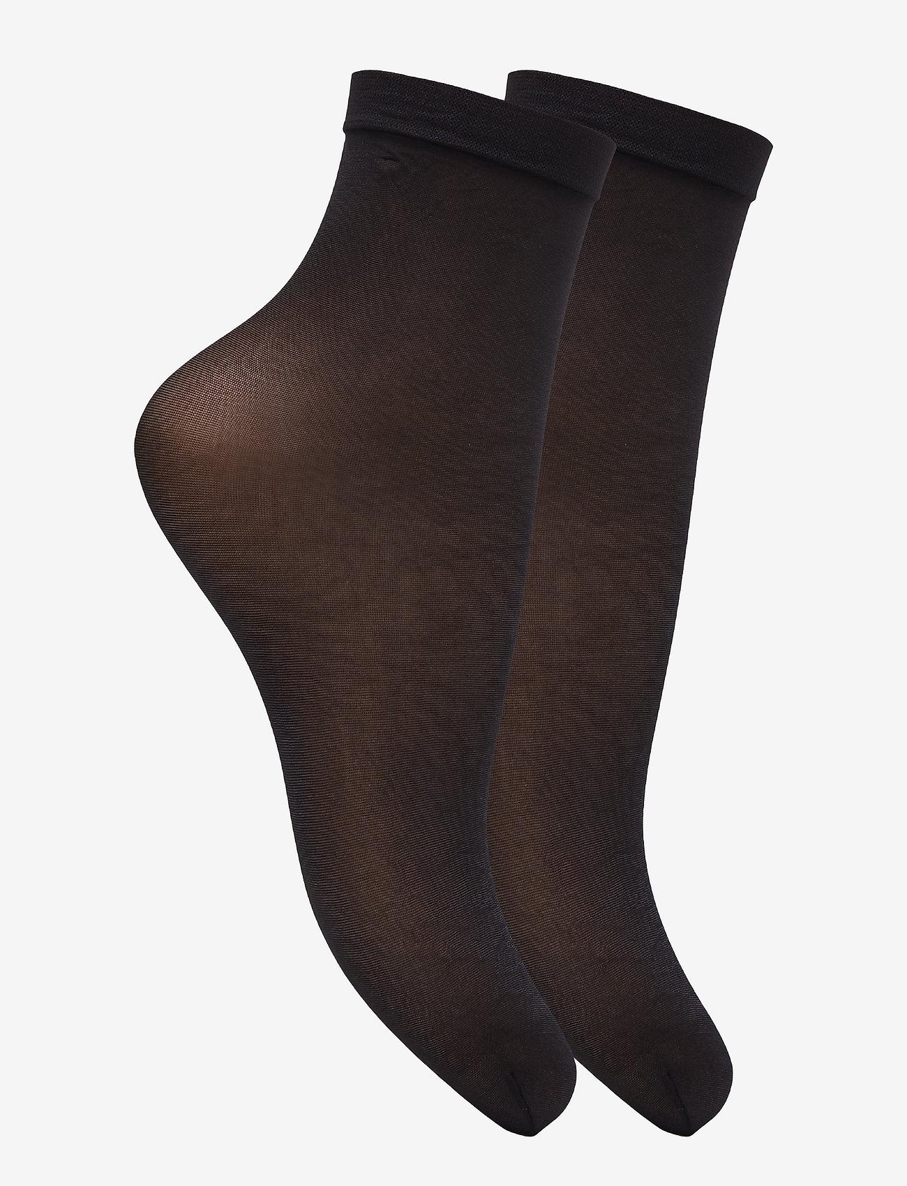 Vogue - Ladies den anklesock, Pleasure Socks 20, 2-pack - sokken - black - 1