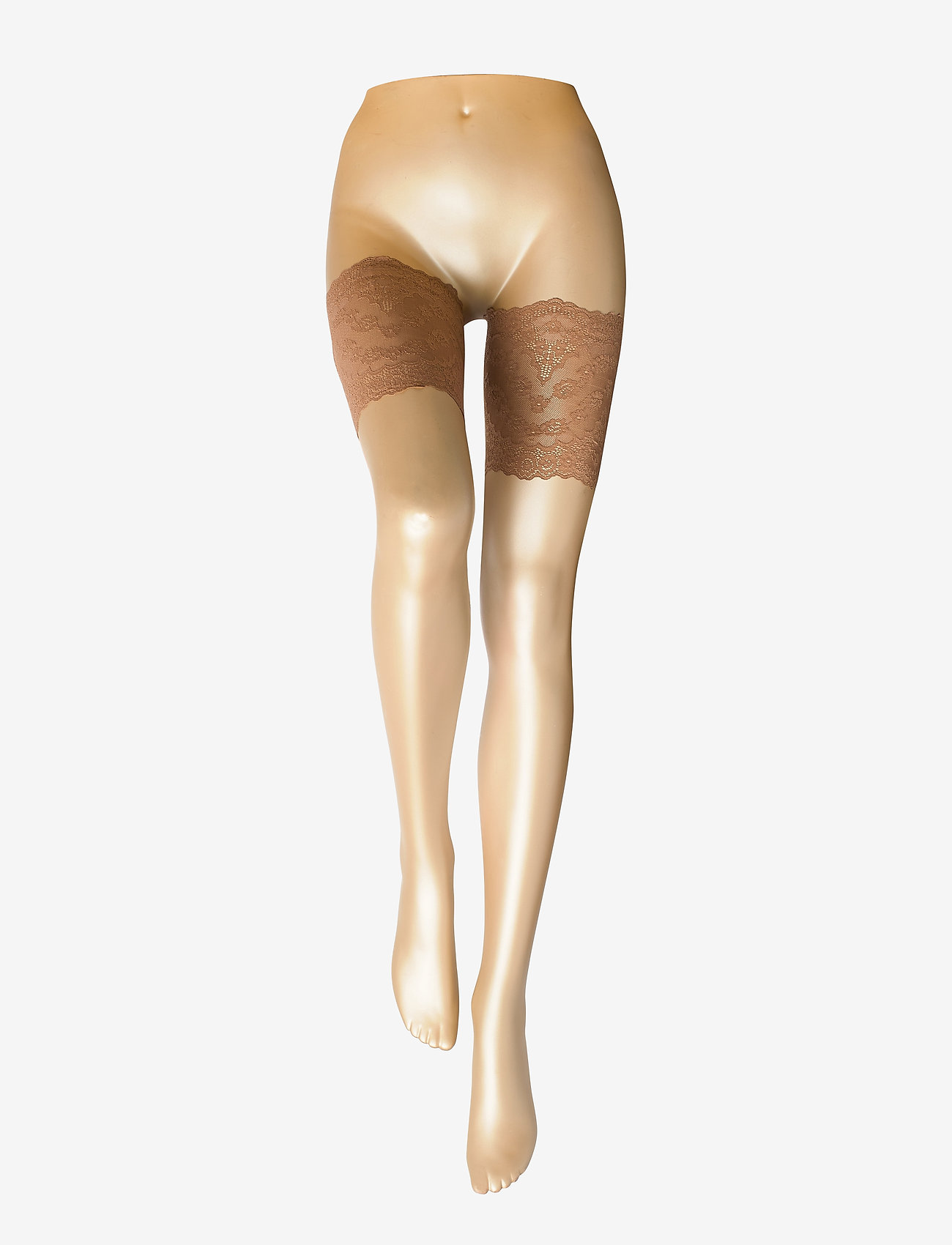 Vogue - Ladies pantyhose den, Lace Thigh Band - stay-ups - suntan - 1