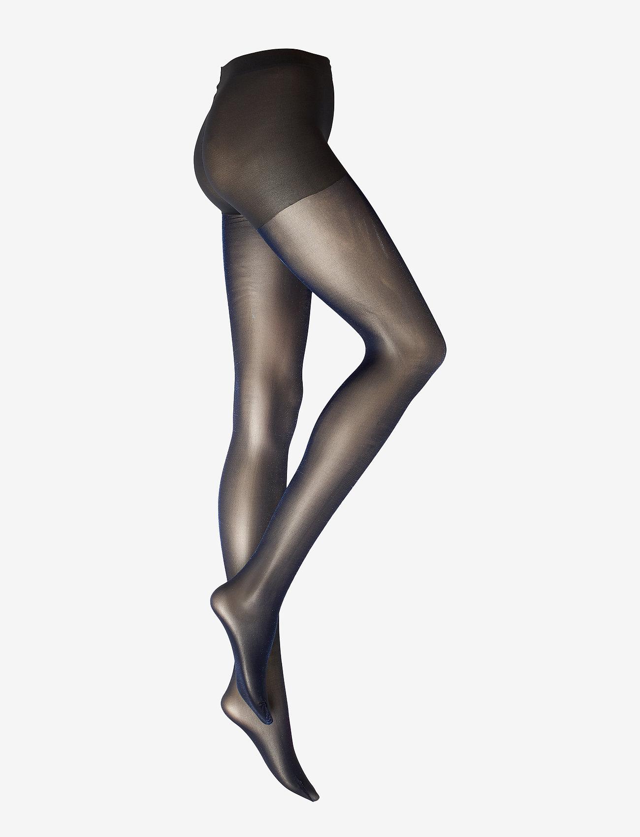 Vogue - Ladies pantyhose den, Roseline 40 - strømpebukser - black iris - 0
