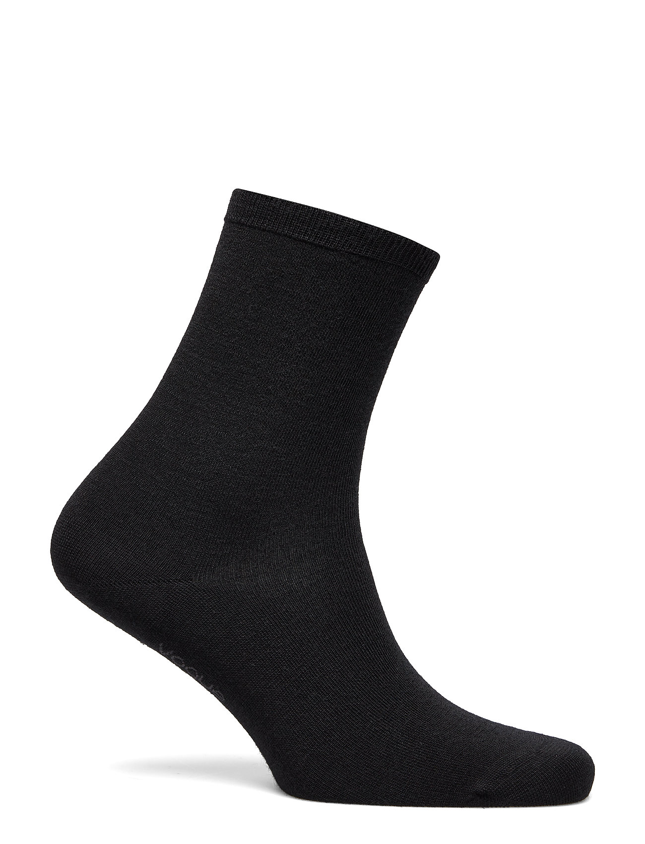 Vogue - Ladies anklesock, Plain Merino Wool Socks - strumpor - black - 0