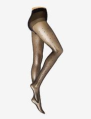 Vogue - Ladies pantyhose den, Conscious Dotty 15 - panty's - black - 0