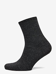 Vogue - Ladies anklesock, Plain Merino Wool Socks - socks - asphalt - 1