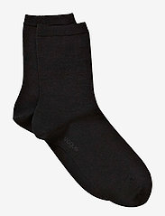 Vogue - Ladies anklesock, Plain Merino Wool Socks - strumpor - black - 3