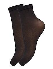 Ladies den anklesock, Pleasure Socks 20, 2-pack - BLACK