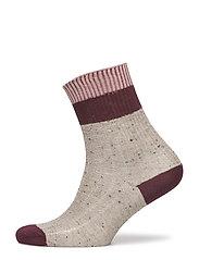 Ladies anklesock, Rib Sparkle Sock - MEL.BEIGE