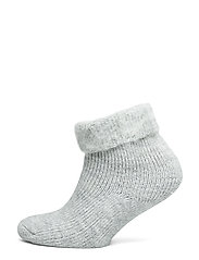 Ladies anklesock, Softies Home Sock - LIGHT MELANGE GREY