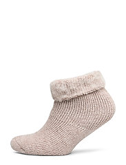 Ladies anklesock, Softies Home Sock - MELANGE NUTRIA