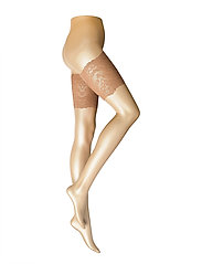 Ladies pantyhose den, Lace Thigh Band - SUNTAN