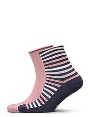 Ladies anklesock, Renee Socks, 2-pack - NIGHTSHADOW