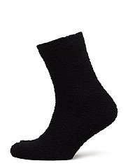 Ladies anklesock, Chenille Sock - BLACK