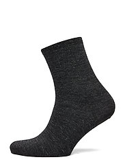 Ladies anklesock, Plain Merino Wool Socks - ASPHALT