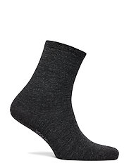 Vogue - Ladies anklesock, Plain Merino Wool Socks - socks - asphalt - 0