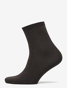 Ladies anklesock, Merino Wool Sock - truffle