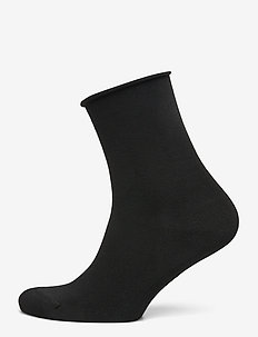 Ladies anklesock, Bamboo Comfort Top Socks - footies - black