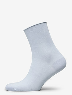 Ladies anklesock, Bamboo Comfort Top Socks - ankelstrumpor - blue fog