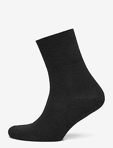 Ladies anklesock, Terry sole Comfort Wool sock - sneakersokken - black