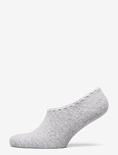 Ladies anklesock, Wool Blend Steps - LIGHT MELANGE GREY