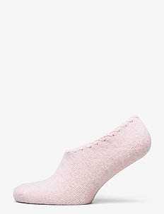 Ladies anklesock, Wool Blend Steps - SILVER PEONY