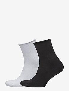 Ladies anklesock, Cotton Comfort Socks, 2 pack - skarpetki - white