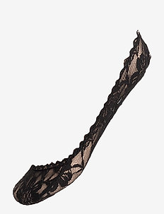 Ladies den steps, Lacy Steps - ankelstrumpor - black