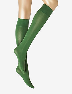 Ladies knee high, Silky Cotton Knee - knee-highs - green