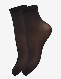Ladies den anklesock, Pleasure Socks 20, 2-pack - sokker - black