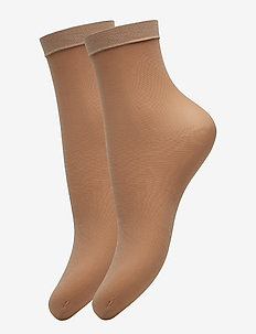 Ladies den anklesock, Pleasure Socks 20, 2-pack - sokker - natural