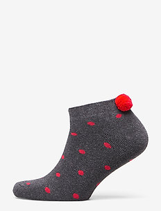 Ladies anklesock, Bunny Sock - DARK MELANGE GREY