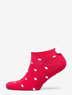 Ladies anklesock, Bunny Sock - RIBBON RED