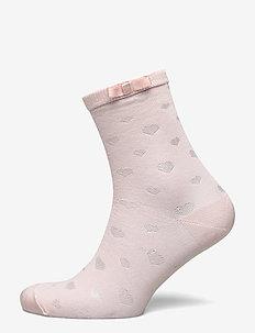 Ladies anklesock, Heart Sock - ROSEWATER
