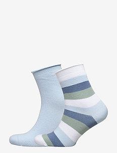 Ladies anklesock, Lollipop Socks, 2-pack - SKYLIGHT