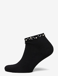 Ladies anklesock, Pearl Sneaker - BLACK