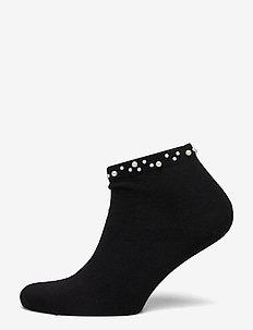 Ladies anklesock, Pearl Sneaker - sneakersokken - black