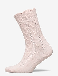 Ladies anklesock, Sophie Cashmere Sock - sokker - silver peony