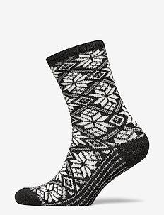 Ladies anklesock, Dora Wool Sock - sokker - d.mel.grey