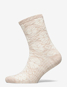 Ladies anklesock, Dora Wool Sock - socken - light mel. beige