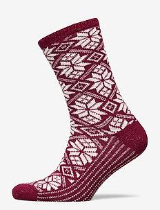 Ladies anklesock, Dora Wool Sock - sokker - ruby wine