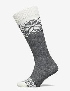 Ladies knee high, Eleanor Wool Knee - knæstrømper - medium mel. grey