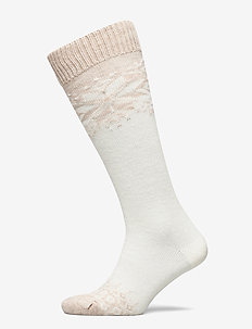 Ladies knee high, Eleanor Wool Knee - polvisukat - off-white