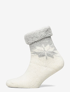 Ladies anklesock, Iris Alpaca Sock - sukat - off-white