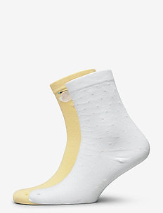 Ladies anklesock, Celestine Socks, 2-pack - footies - golden haze