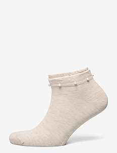 Ladies anklesock, Lilou Sneaker - sneakersokken - light mel. beige
