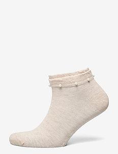 Ladies anklesock, Lilou Sneaker - ankle socks - light mel. beige