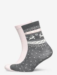 Ladies ankle, Cora s - vanliga strumpor - d.mel.grey