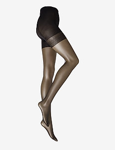 Ladies den pantyhose, Silhouette Control Top 20den - BLACK