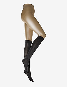 Ladies knee high, Merino Wool Knee - kniekousen - asphalt